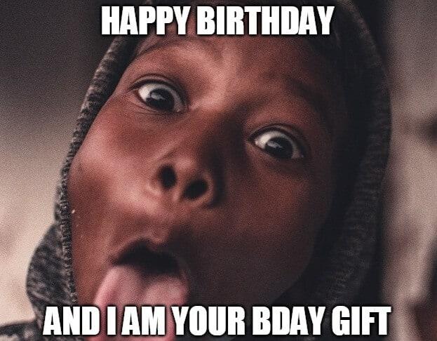 wierd birthday gift meme