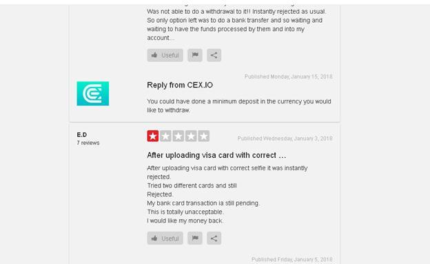 Cex.io staff replying