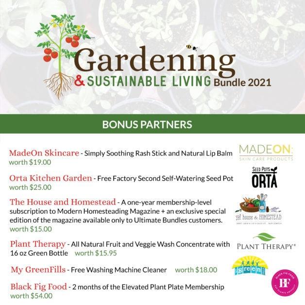 Gardening bonus offers.
