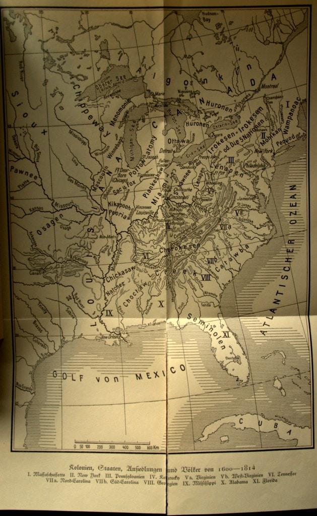 Landkarte - Das Grenzerbuch - Friedrich von Gagern