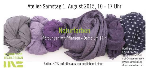 Atelier-Samstag am 01.08.2015