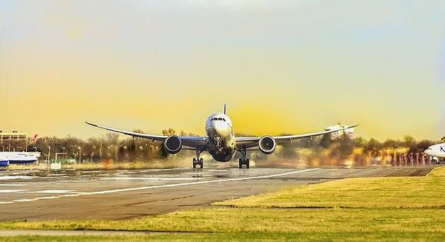 Flugzeugstart ins Urlaubsland