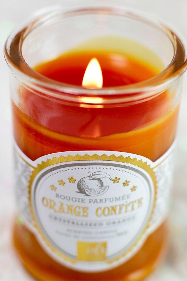 Bougie Orange Confite