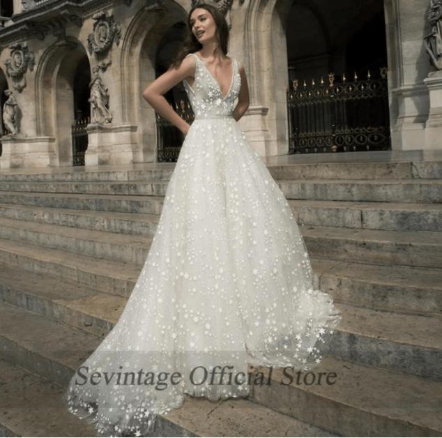 aliexpress top affordable wedding dress