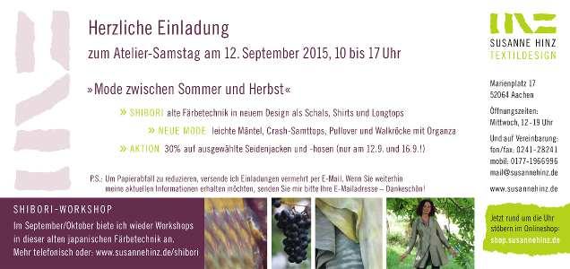 Atelier-Samstag am 12.09.2015