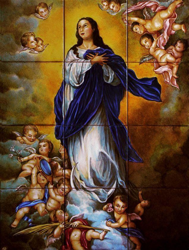 retablo cerámico de la Inmaculada de Murillo