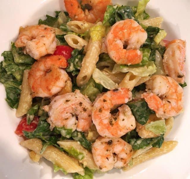 Caesar Pasta Shrimp Salad