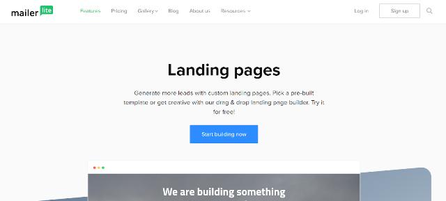 MailerLite Best Landing Page Builders