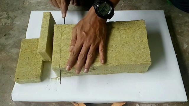 cara memotong rockwool