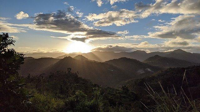 Berglandschaft in Puerto Rico