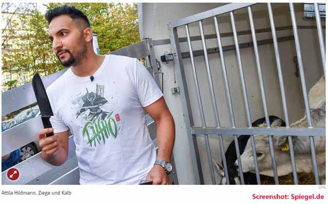 Attila Hildmann hat keine Eier / Screenshot: Spiegel.de