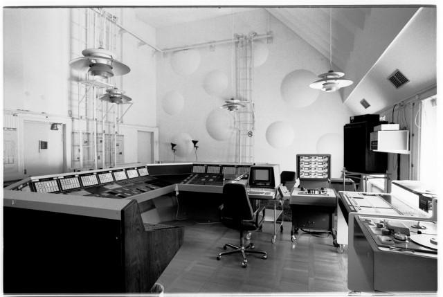 EMS' sleek studio, seen in 1980.