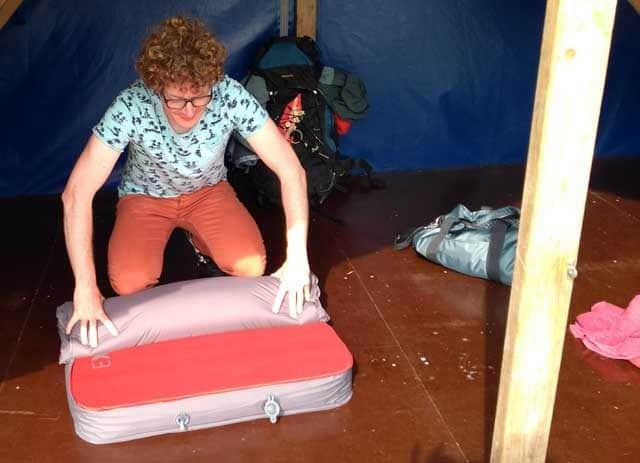Kampeerspullen Slapen op de camping  Exped Megamat 10 LXW of LW, 10 cm dik en écht lekker slapen - Review