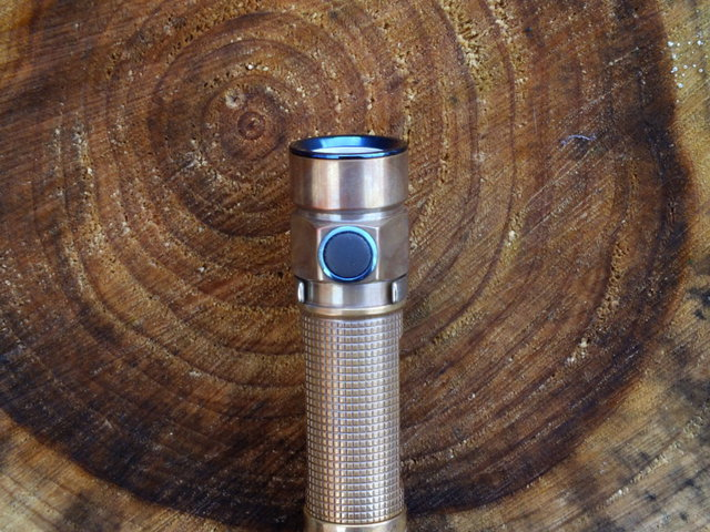 The side switch that you use to operate the Olight S1A Baton is very smooth and easy to locate and use
