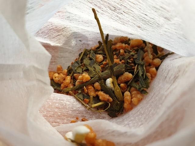 Genmaicha wrapped in a tea bag
