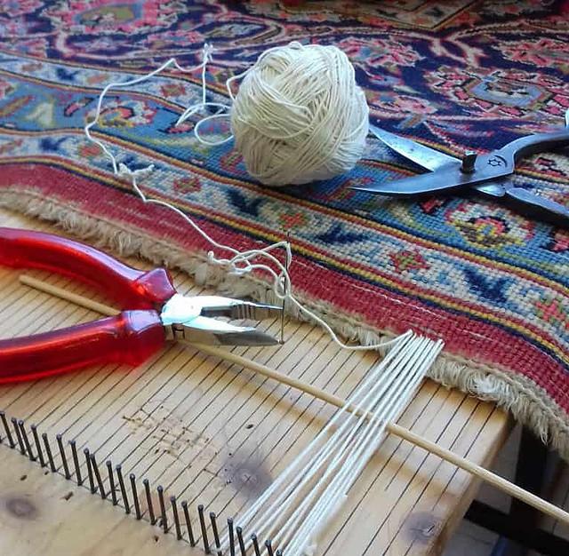 riparazione frange tappeti