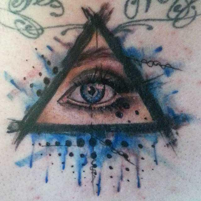 Глаз тату в треугольнике