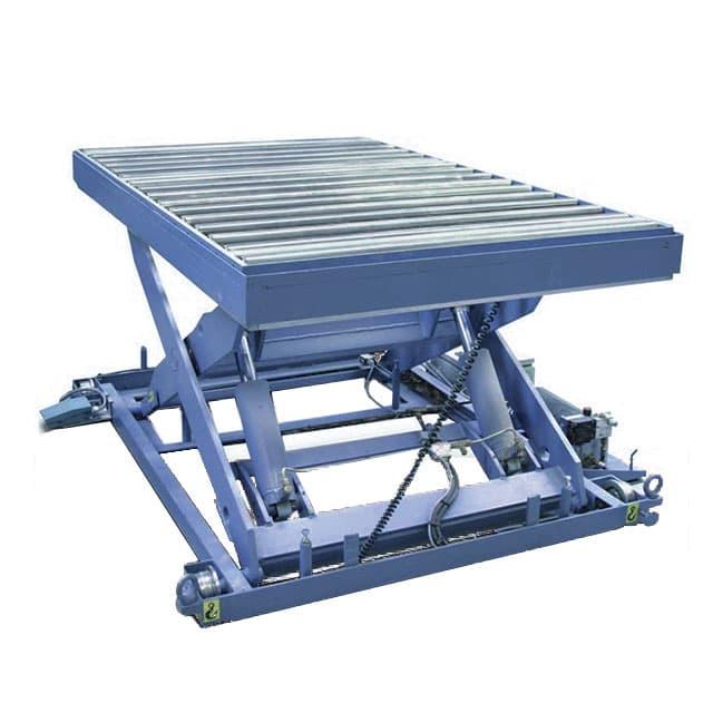 Table élévatrice BFX étudiée pour l'industrie de la transformation du bois. Conçues pour le transfert du bois en position basse.