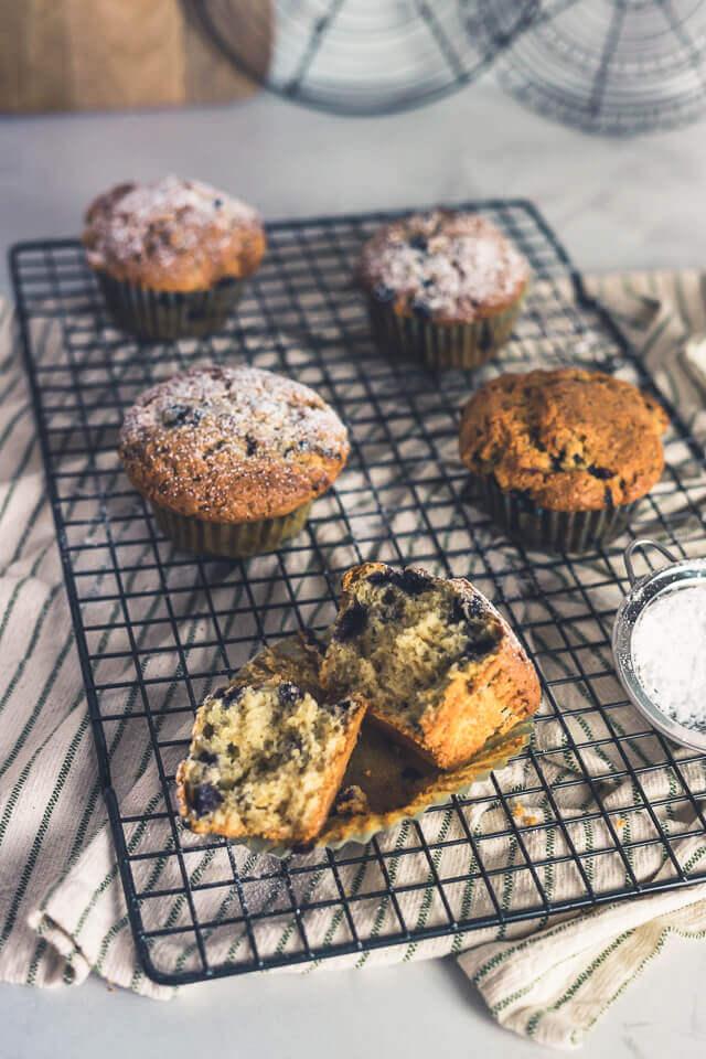 Tonkabohne-Blaubeer-Muffins