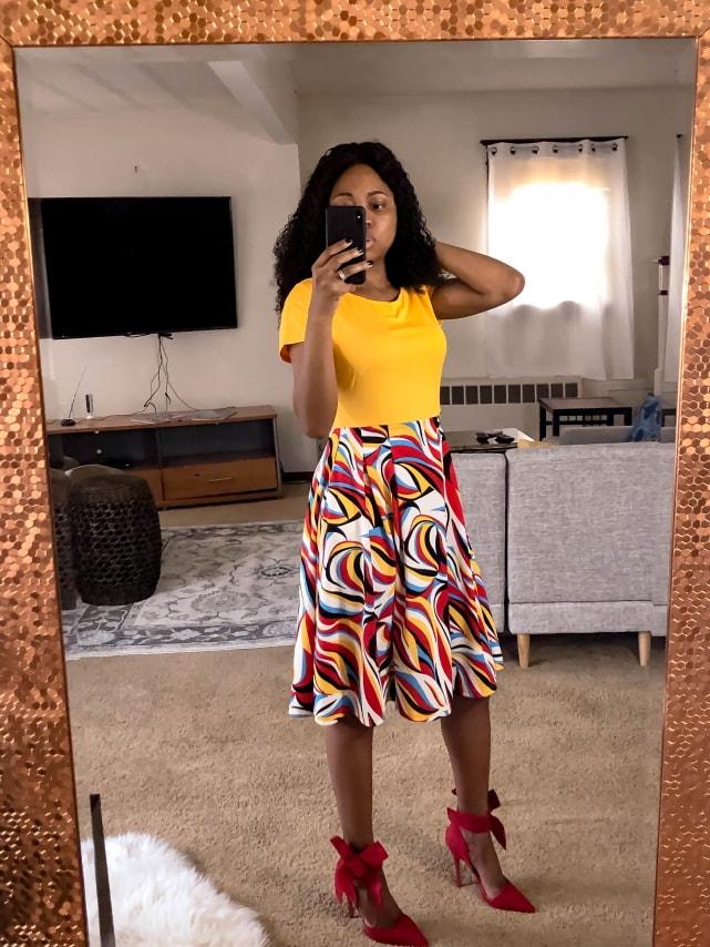 Amazon best seller Short Sleeve Swing Midi Dress