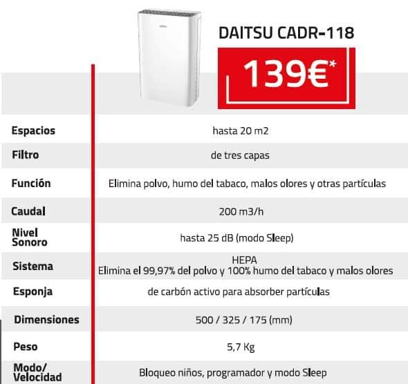 purificador daitsu CADR-18