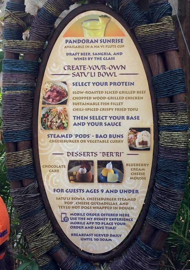 Satu'li canteen menu