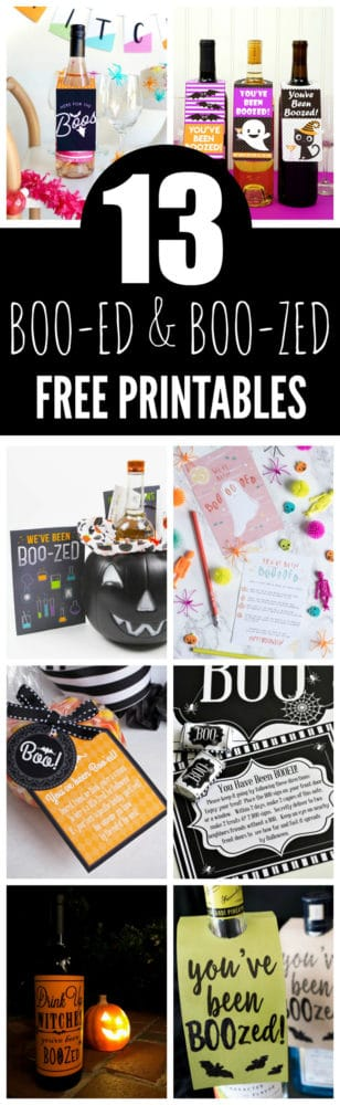 13 Free Halloween Booed and Boozed Printables To Treat Your Neighbors