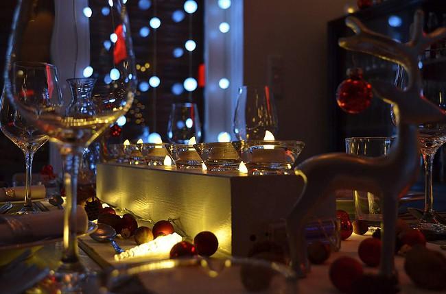 christmas, meal, dinner