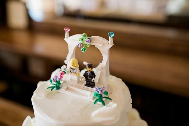 Summer Garden Party Wedding Cake