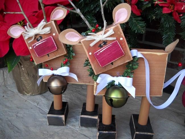 DIY Wooden Reindeer Decorations