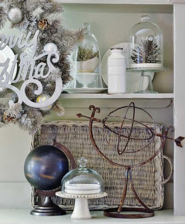 Christmas decorating ideas hutch