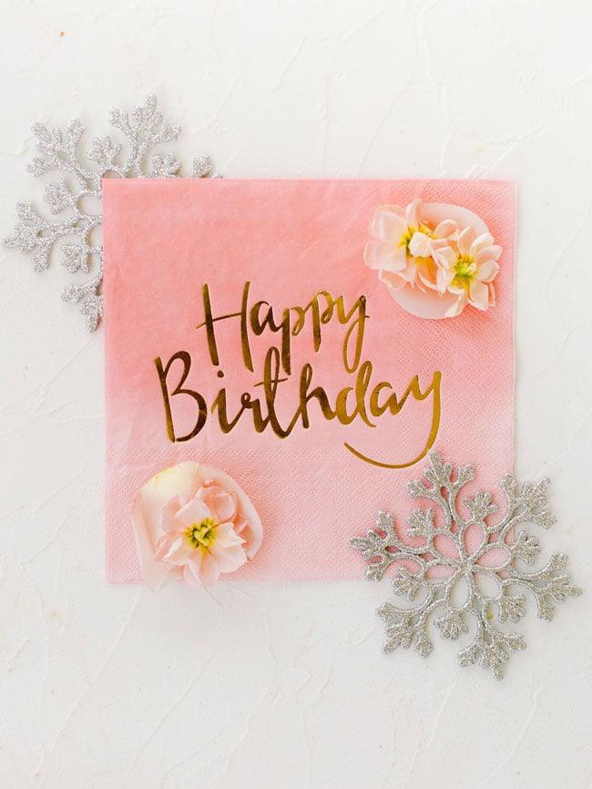 Pink Happy Birthday Napkins