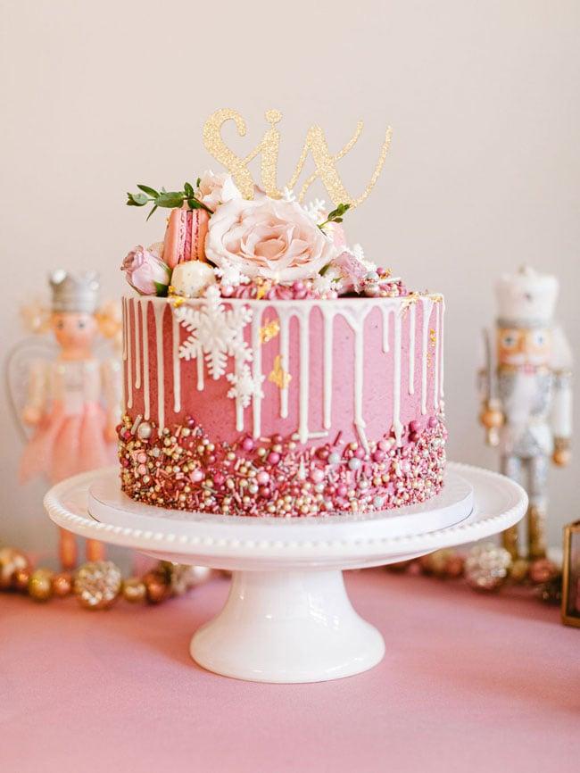 Pink Nutcracker Birthday Cake