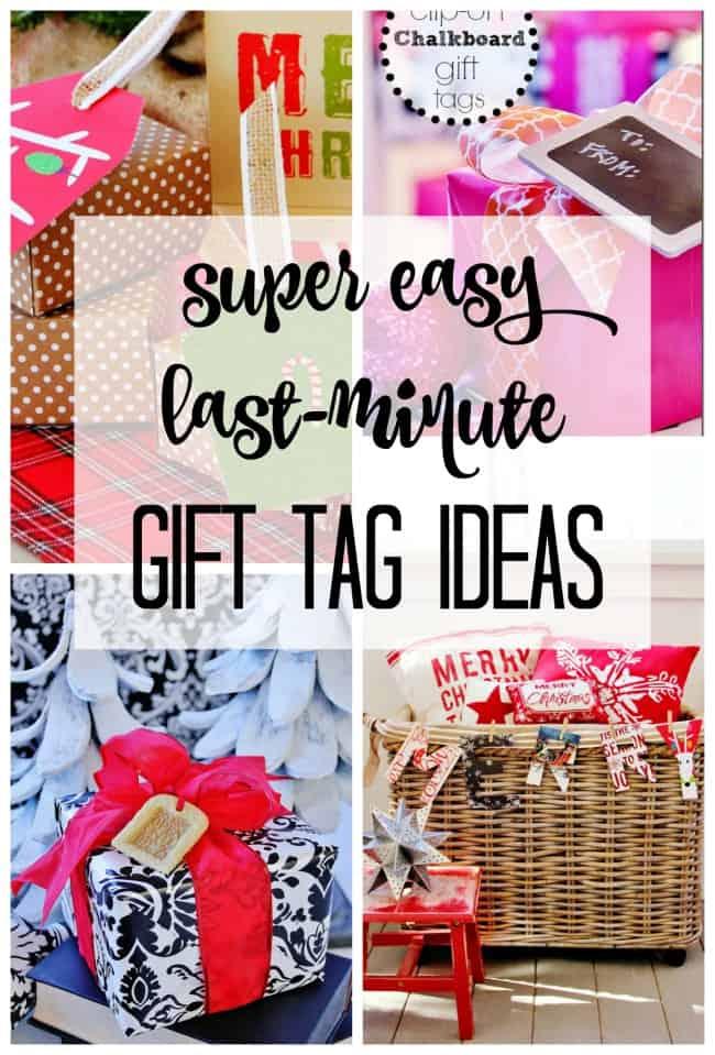 super easy last minute gift tag ideas