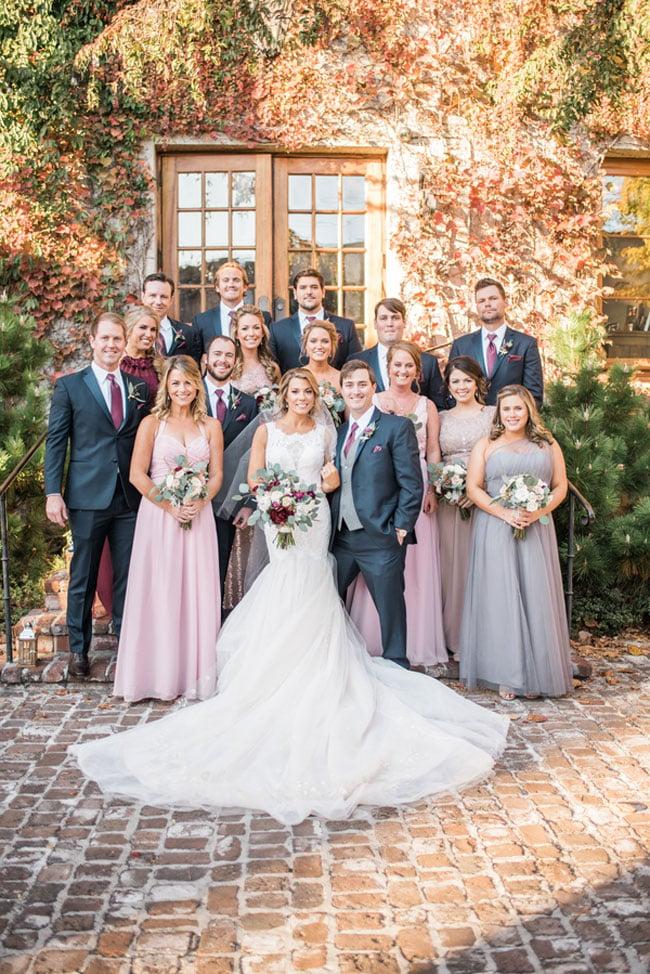 Fall Wedding Bridal Party