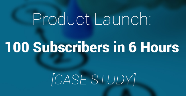 Product Launch with niche marketing case study