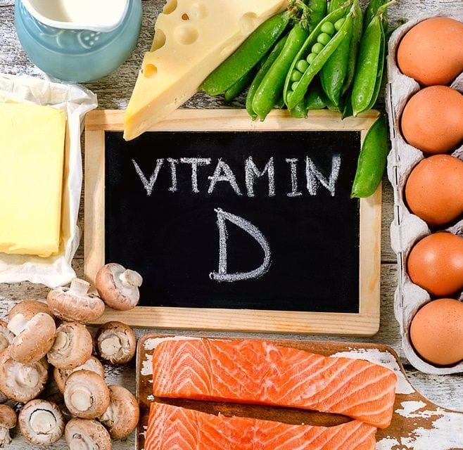 Darstellung der Lebensmittel die reich an Vitamin D sind.