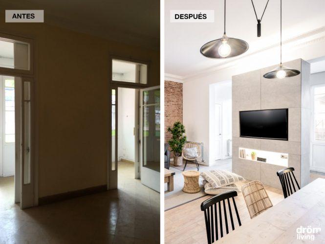 Antes/después - la transformación radical de un piso modernista barcelonés