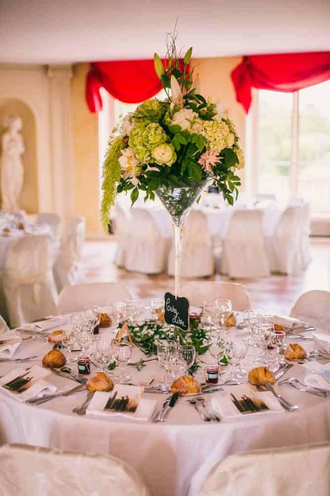 Photos décoration mariage au château du Monceau à Liverdy-en-Brie