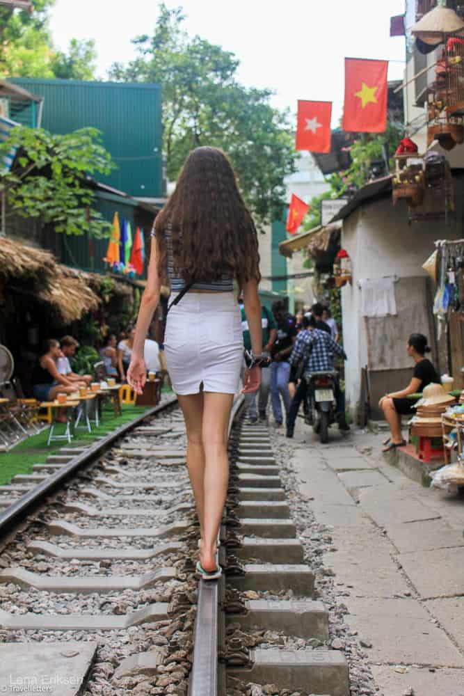 Train street i Hanoi