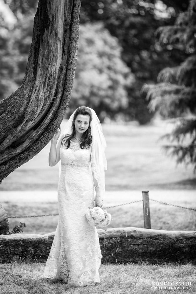 Bridal portrait at Coulsdon Manor