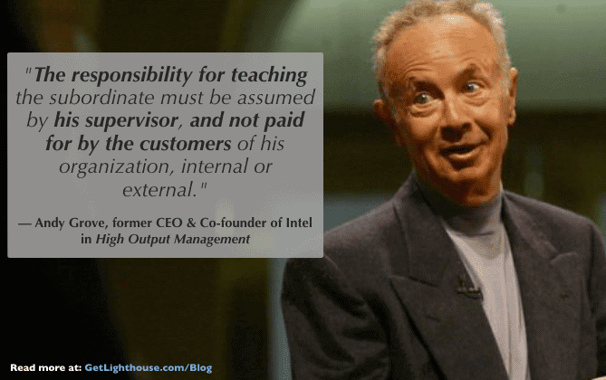 Andy Grove knows managers need to train their people