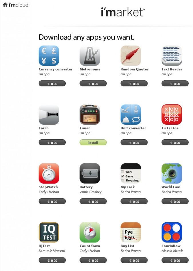 Apps im i'm Watch Store