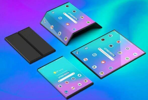 Xiaomi foldable phone 3d renders