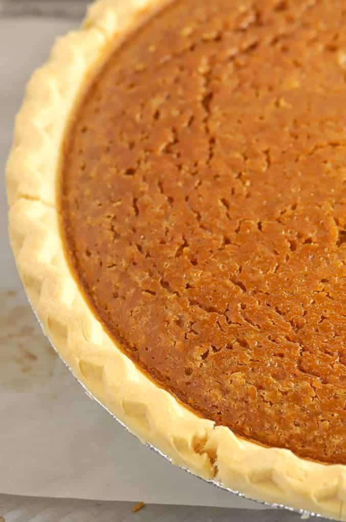 Baked gluten free pumpkin pie