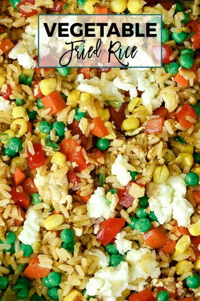 vegetable fried rice Pinterest image