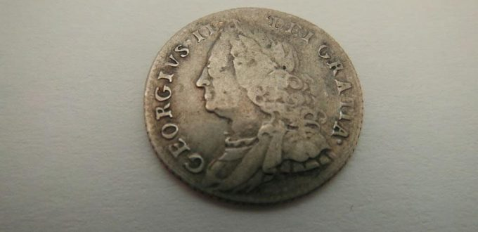 1757 george 11 silver sixpence