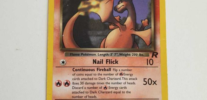 dark charizard first edition card