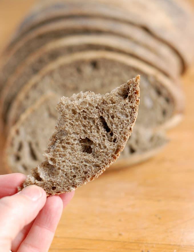 guinness buckwheat bread made with sourdough starter