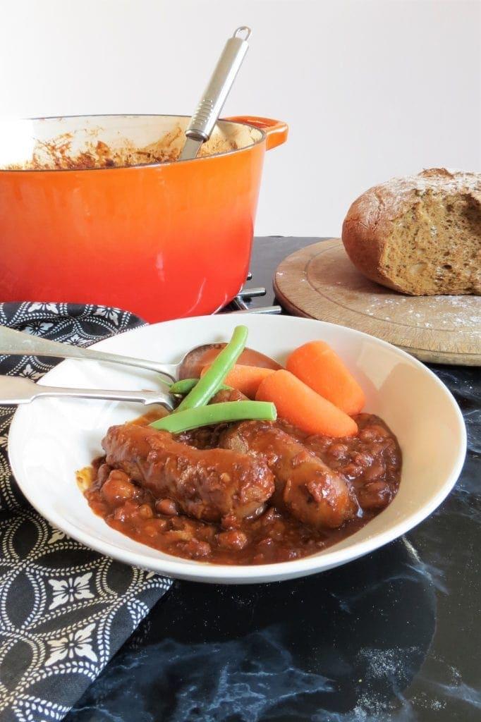 Sausage Casserole gluten free, one pot, comfort food